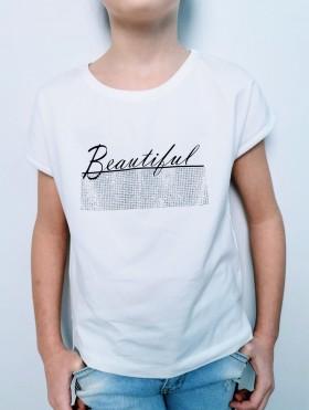 BLUZKA DLA DZIEWCZYNKI ''BEAUTIFUL''