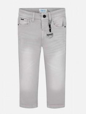 Długie spodnie slim fit z brelokiem dla chłopca
