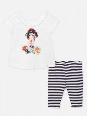 Komplet koszulka z leginsami dla dziewczynki Baby