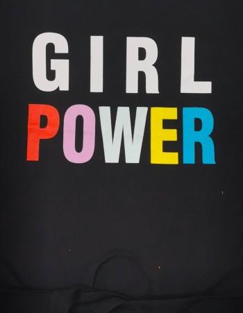 BLUZKA Z WIĄZANIEM ''GIRL POWER''