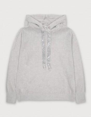 Sweter z kapturem dla dziewczynki