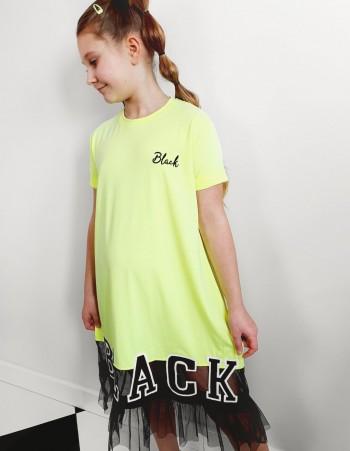 Sukienka dla dziewczyny BLACK