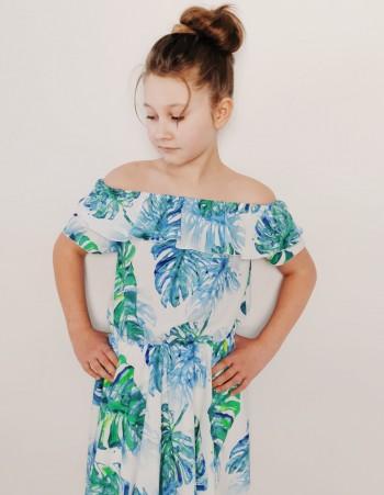 Szyfonowa Sukienka Dziewczęca