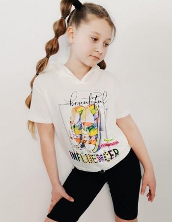Bluzka Dla Dziewczyny z Kapturem