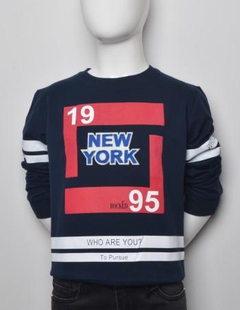 GRANATOWA BLUZA ''NEW YORK''