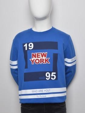 NIEBIESKA BLUZA ''NEW YORK''
