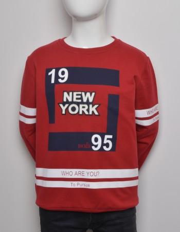 CZERWONA   BLUZA ''NEW YORK''