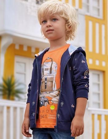 Koszulka z krótkim rękawem z nadrukiem dla chłopca