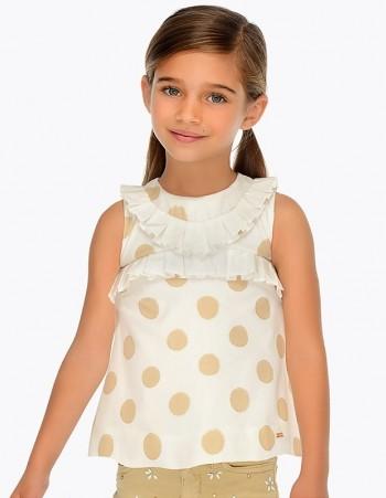 Bluzka na ramiączkach w grochy dla dziewczynki