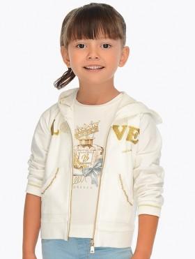 Bluza z kapturem LOVE dla dziewczynki