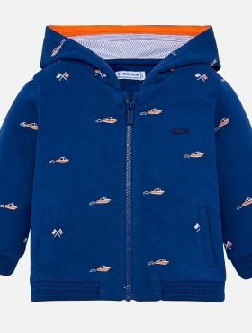 Bluza z dzianiny dresowej z kapturem dla chłopca Baby