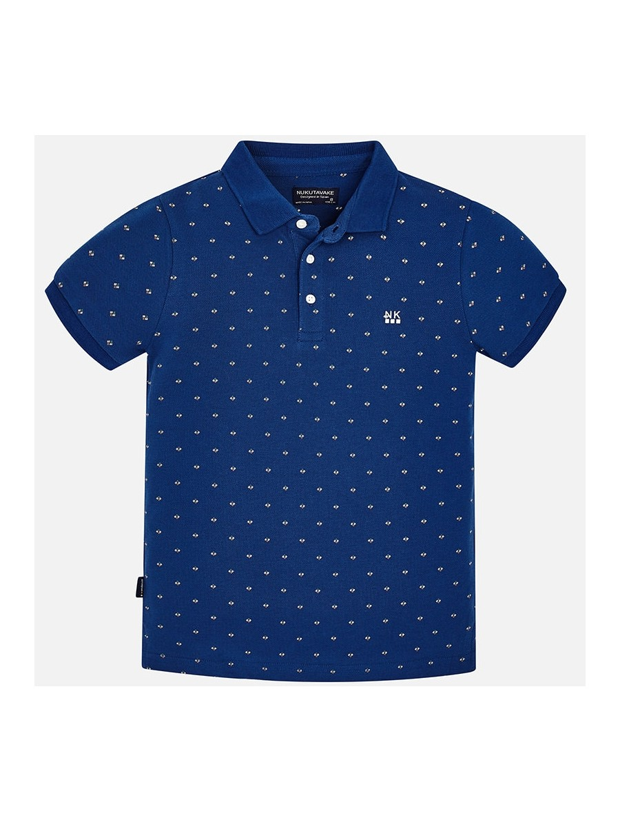Koszulka polo z krótkim rękawem we wzorki dla chłopaka