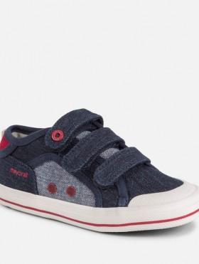 Płócienne buty na rzepy dla chłopca