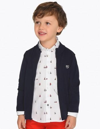 Bluza z gładkiej dzianiny dla chłopca